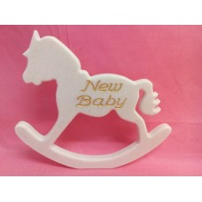12mm White Corian Rocking Horse New Baby